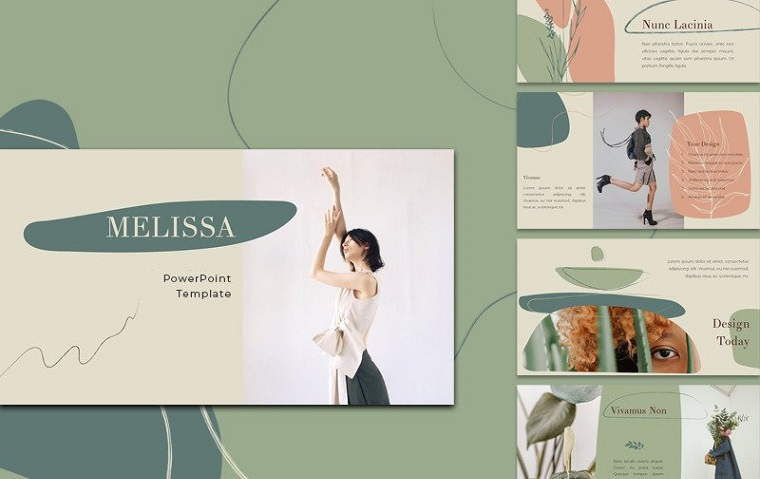 Melissa PowerPoint Template for Great Fashion Ideas