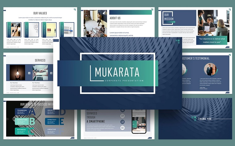 Mukarata PowerPoint Template for Modern Company Presentation