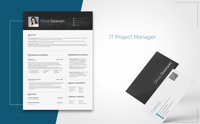 Olivia Dawson - Office Manager Resume Template