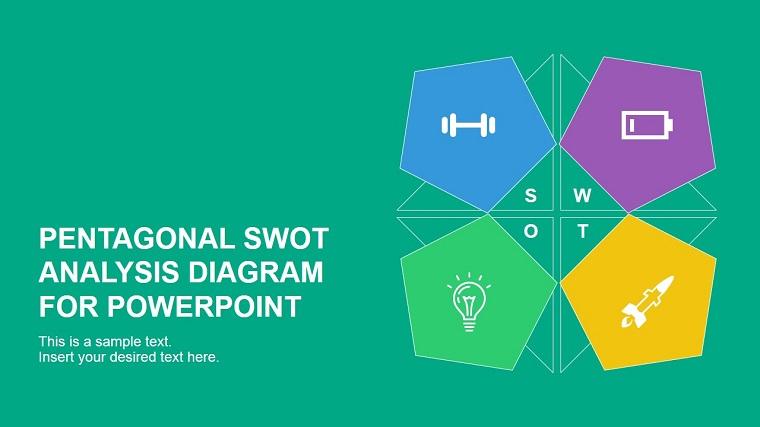 Pentagonal SWOT Analysis Diagram for PowerPoint