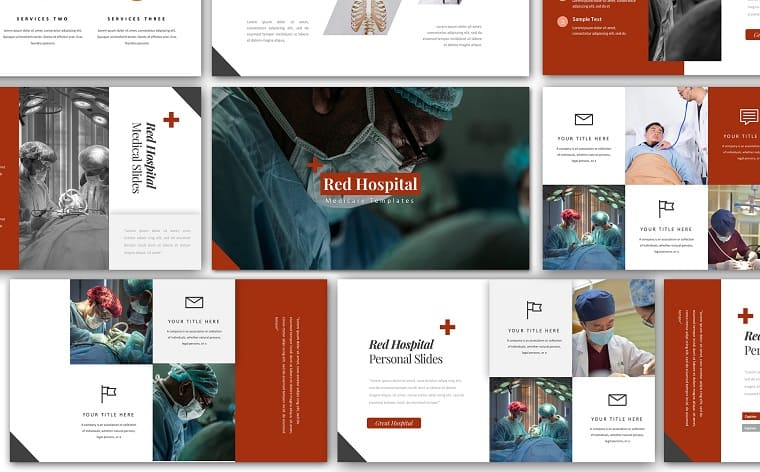Red Hospital Medical PowerPoint Template