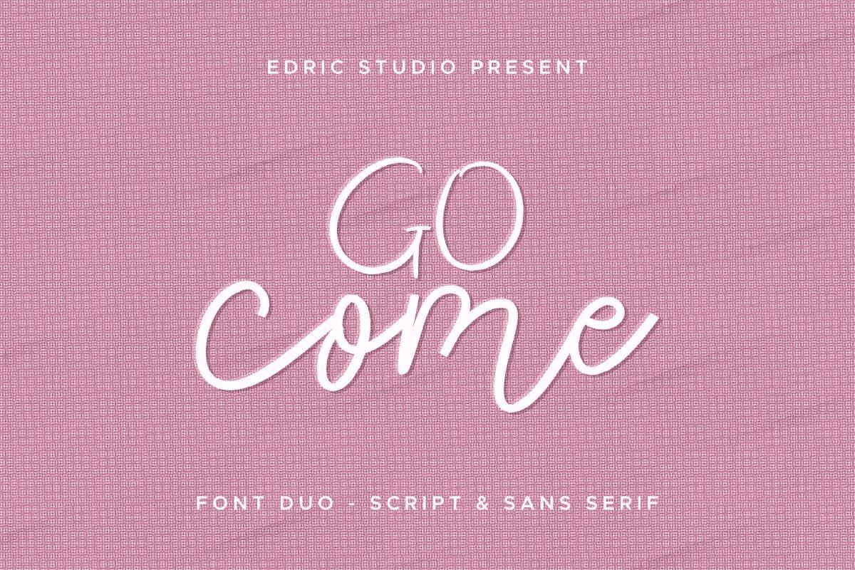 Go Come tattoo Font