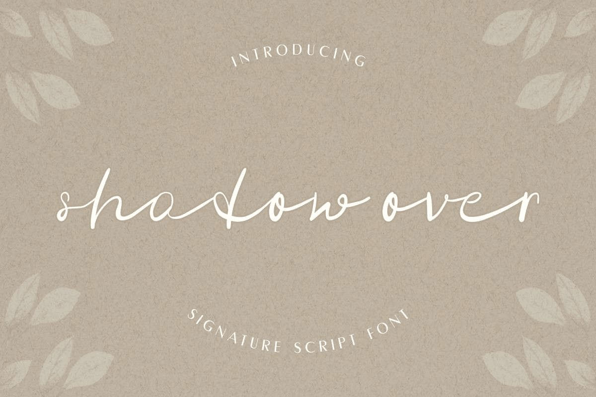 Shadow Over tattoo Font