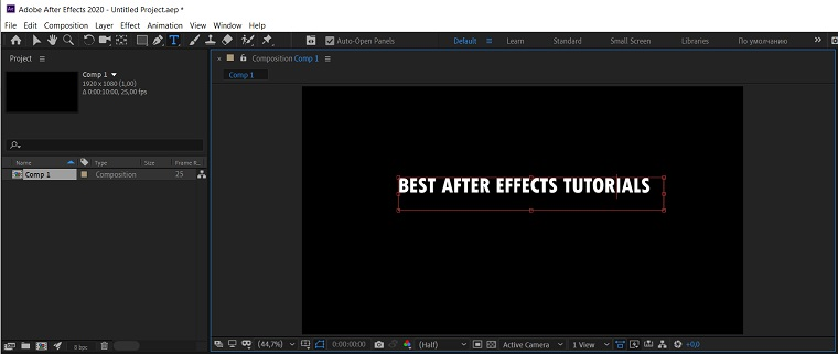 Text and Animation 3.