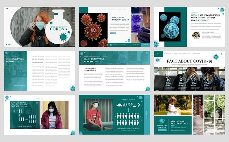 Virus Corona - Medical Health PowerPoint Template