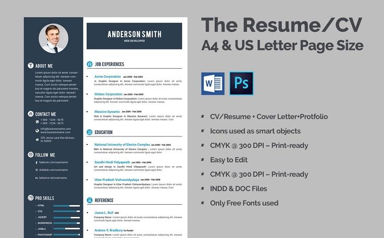 Web Developer CV Resume Template
