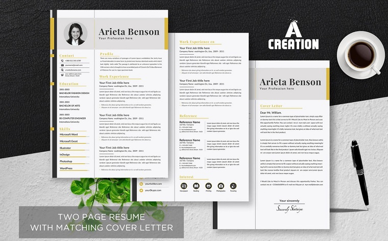 Executive Assistant CV Template Layout Resume Template