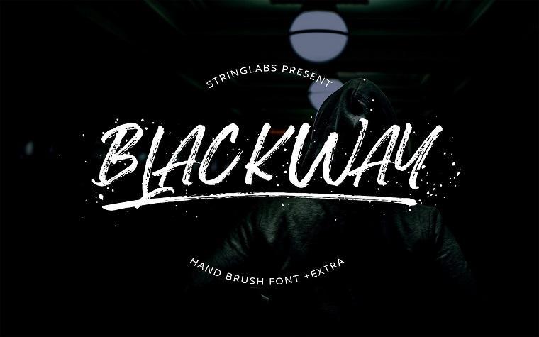 Blackway - Handbrush Font