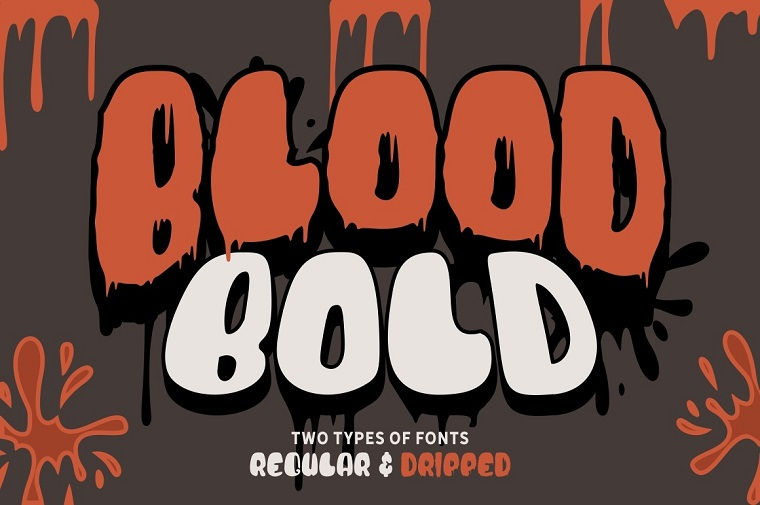Blood Bold - Fun Halloween Two Font