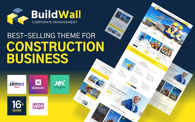 BuildWall - Construction Company Multipurpose WordPress Theme.