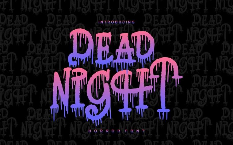 Dead Night - Horror Font