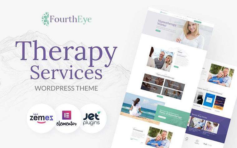 FourthEye - Therapy Services Multipurpose Classic Elementor WordPress Theme