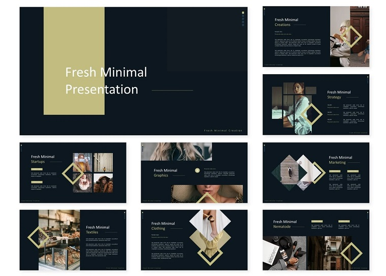 Fresh Minimal   PowerPoint Template