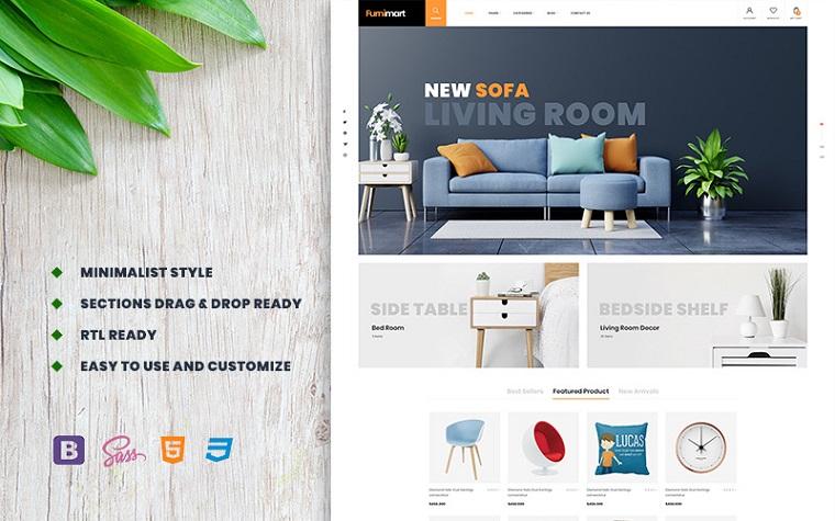 Furnimart - Clean Furniture & Decor Shopify Theme.