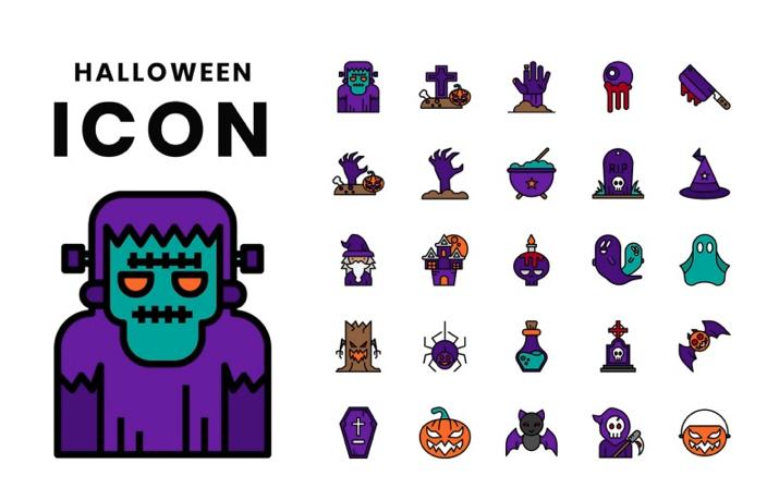 Halloween Iconset Template
