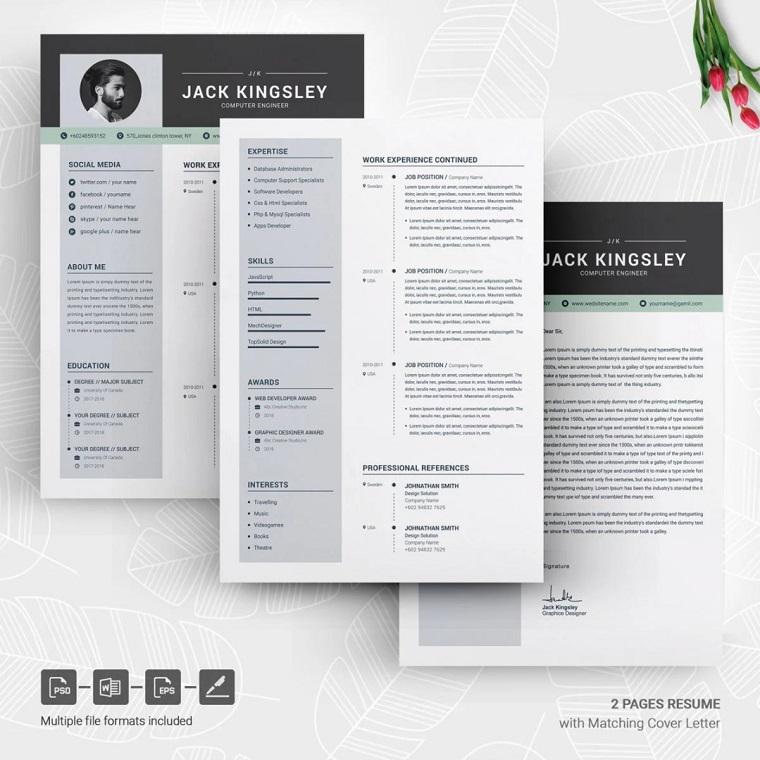 Jack Kingsley Web Designer Resume Template