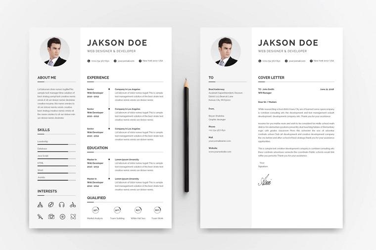 Jakson Doe Web Designer & Developer CV/ Resume Template