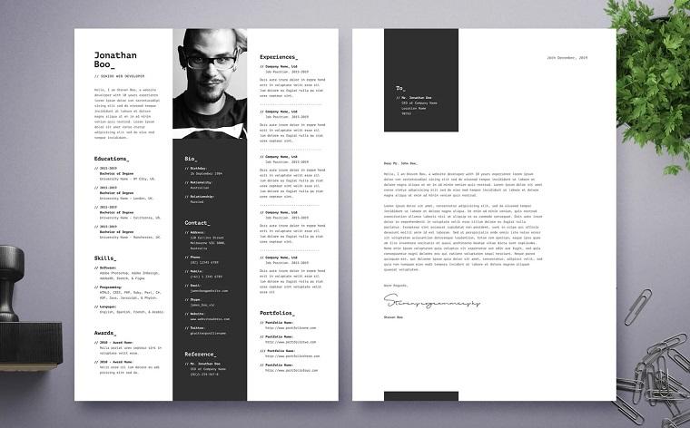 John Boo | Senior Web Developer Resume Template