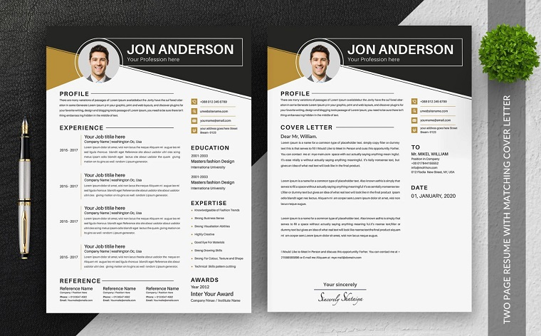 Jon Anderson Fully Editable Executive Assistant Resume Template