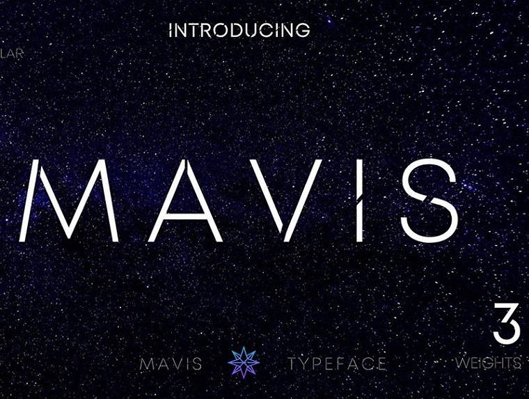 MAVIS SANS - FUTURISTIC TYPEFACE Font