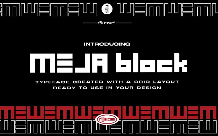 MEJA Block Font