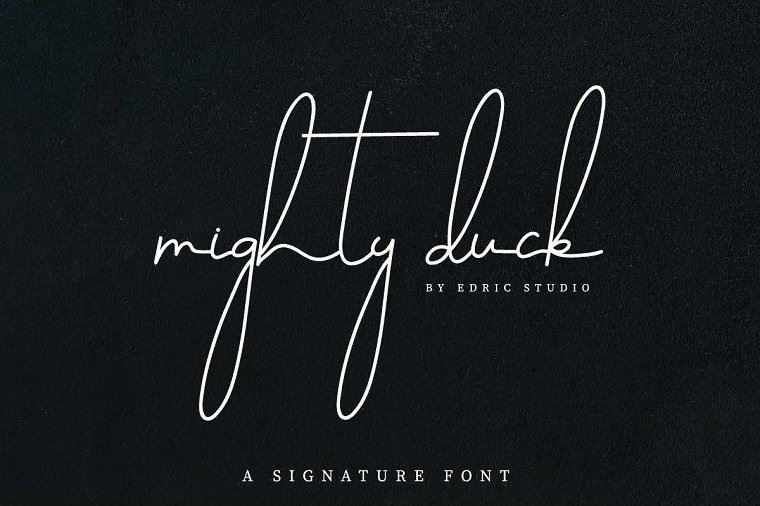 Mighty Duck Font