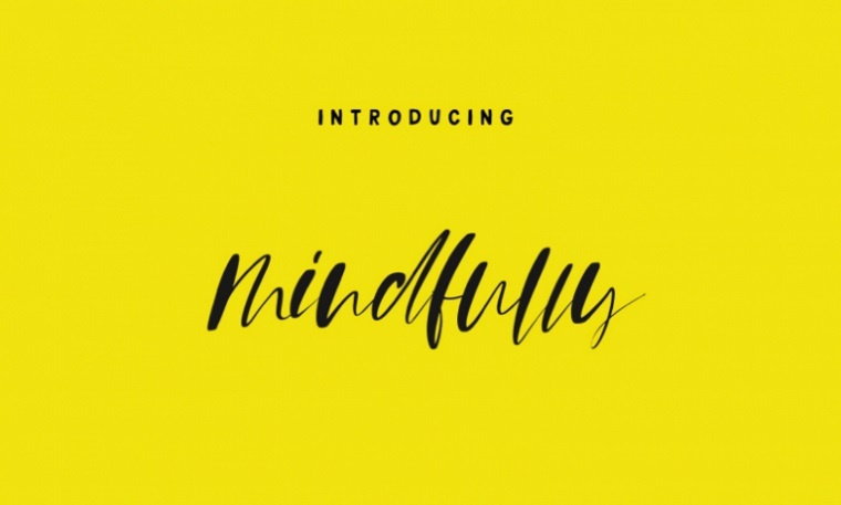 Mindfully - Free Calligraphy Font