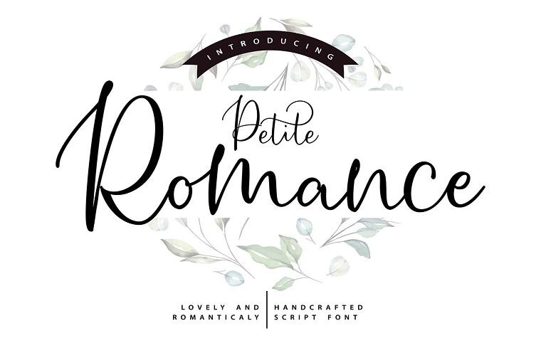 Petite Romance | Handcrafted Script Font