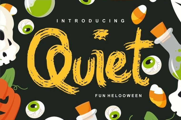 Quiet | Magical Helloween Font