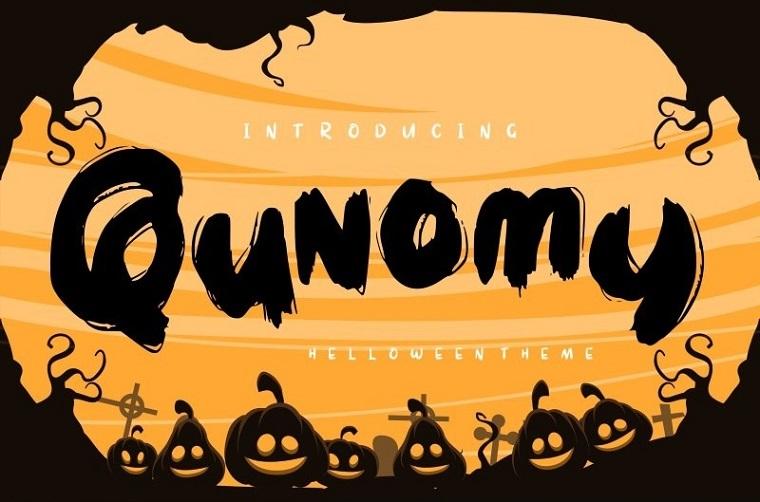 Qunomy | Helloween Theme Font