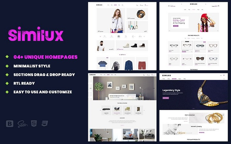 Similux - Responsive Minimal Shopify Theme