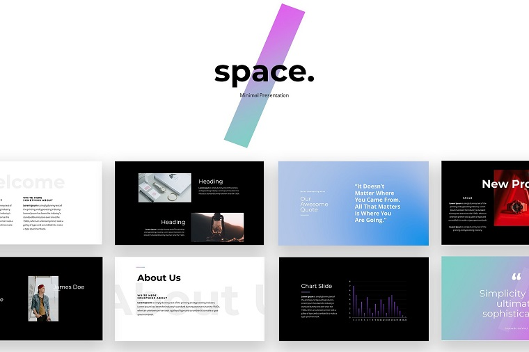 Space - Minimal PowerPoint Template