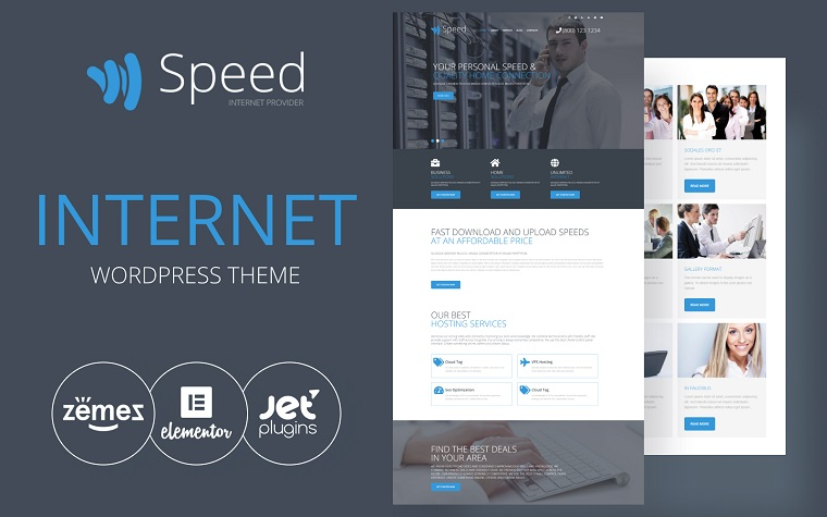 Speed - Internet Theme with Elementor Builder WordPress Theme
