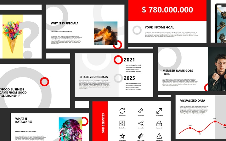 Kataware PowerPoint Template for Professional Presentation