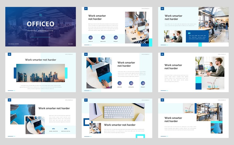 Officeo - Company Presentation PowerPoint Template