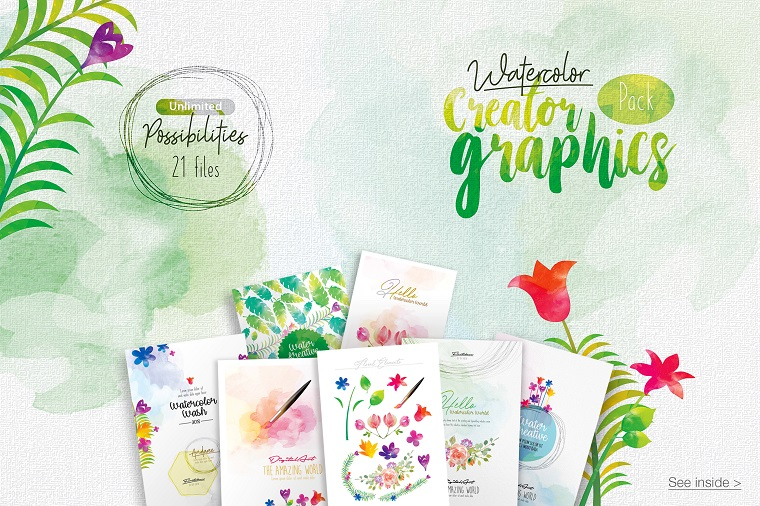 WaterColor creator bundle