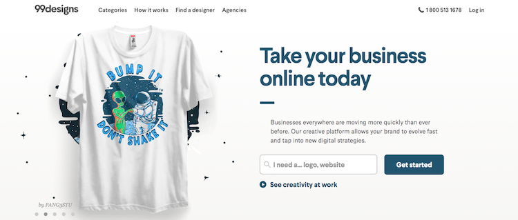 99designs sell your design online