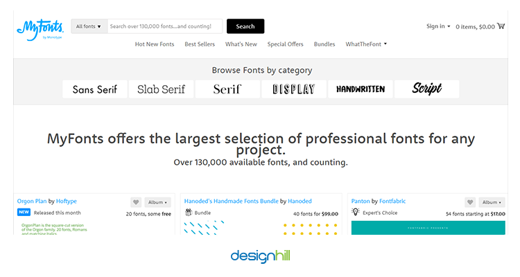 myfonts sell your design online