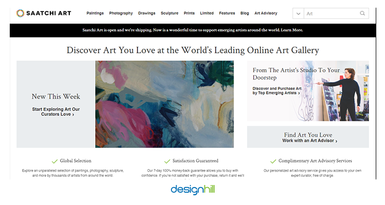 Saatchi sell your design online