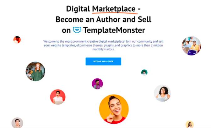 sell your design online on TemplateMonster