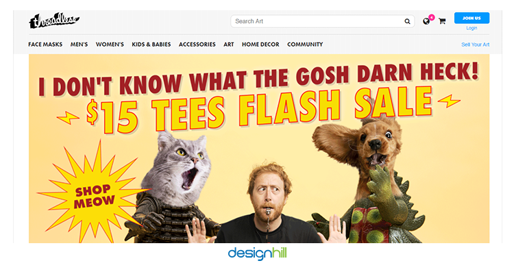 Threadless sell your design online