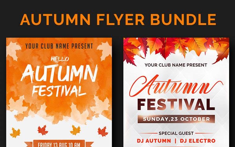 Autumn Flyer Bundle Corporate Identity Template