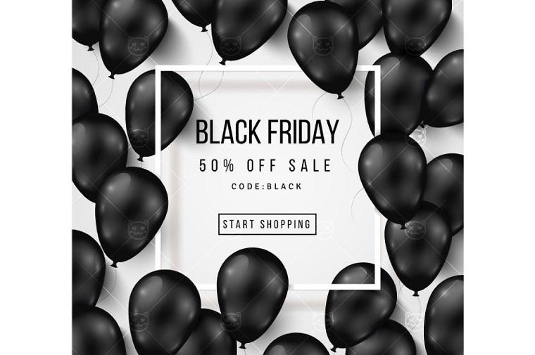 Black Friday balloons