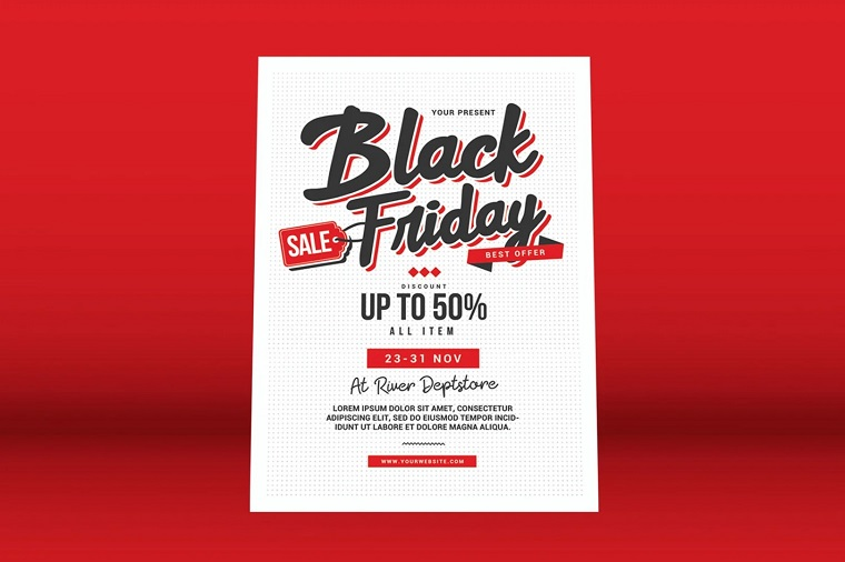 Black Friday Sale Flyer Corporate Identity Template