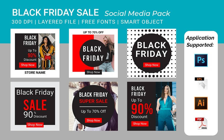Black Friday Square Banner Template