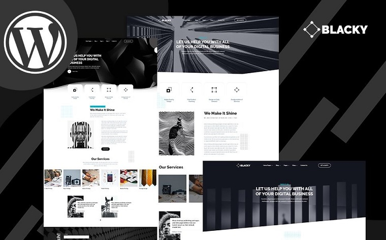 Blacky - Minimal Dark Digital Agency WordPress Theme