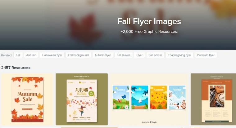 Freepik Fall Flyers