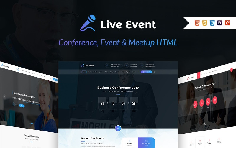 Live Event - Conference, Event & Meetup HTML Template