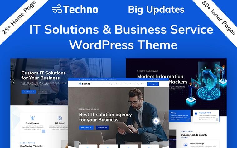 Techno - IT Solutions & Business Service WordPress Theme