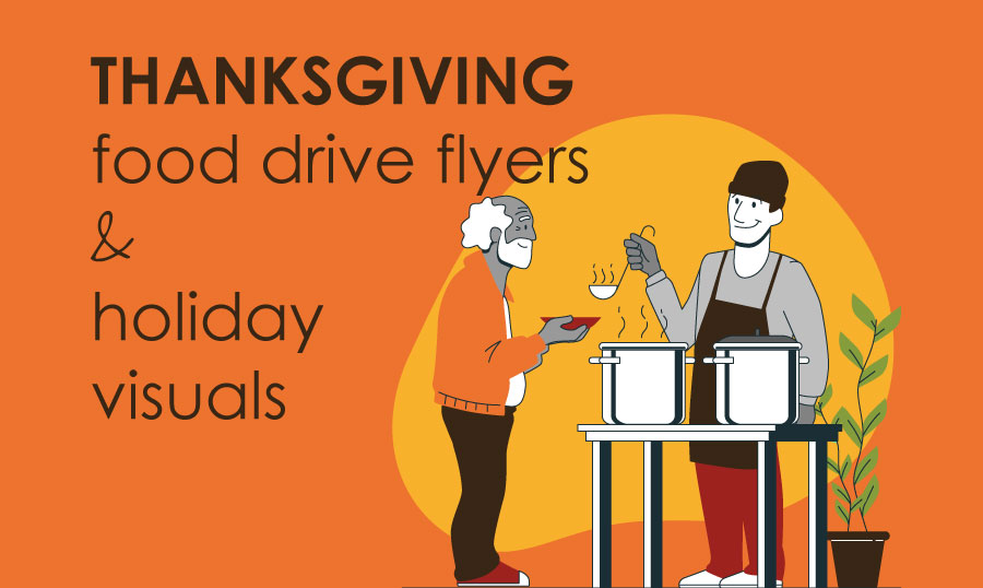 10 Free Premium Thanksgiving Food Drive Flyers